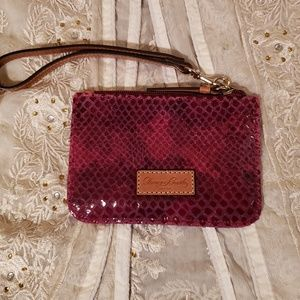Dooney and Bourke Leather Embossed Wristlet